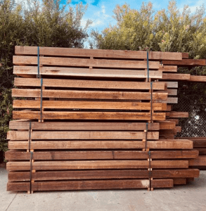 spotted gum 293x300 - Spotted Gum Posts and Beams