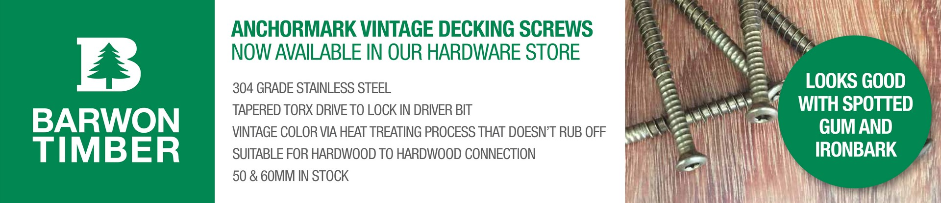 Barwon Timber Decking Screws