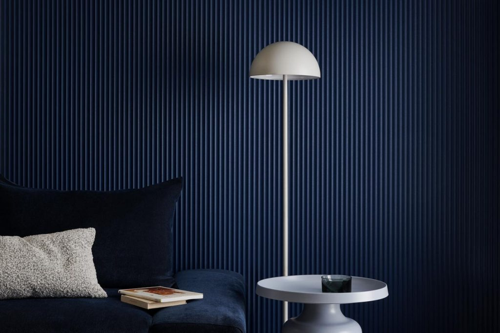 Surround Scallop 22.5 Dulux Winter Sea 2 1024x682 - Decorative Wall Panels – Liven up your space with Internal Lining Boards