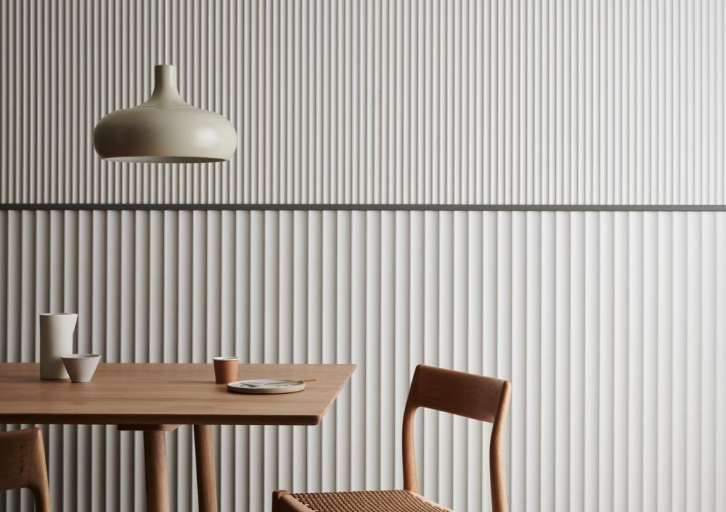 Surround Scallop 45 and Scallop 22.5  Dulux White Duck Quarter 3 1024x723 - Decorative Wall Panels – Liven up your space with Internal Lining Boards