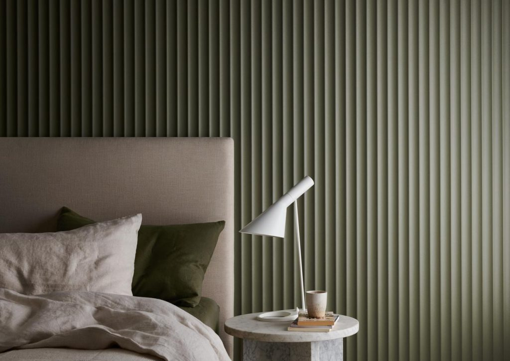 Surround Scallop 45  Dulux Gully 2 1024x724 - Decorative Wall Panels – Liven up your space with Internal Lining Boards