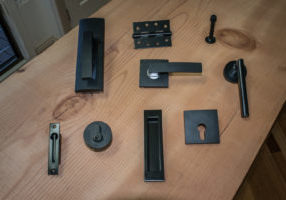 Black door handles, levers and locks available at Barwon Timber.
