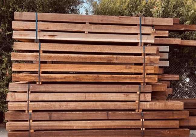 spotted gum posts and beams